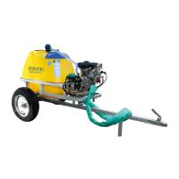 Carro pulverizador tiro moto 250 L con bomba Far-30 y motor de 7 HP con partida eléctrica