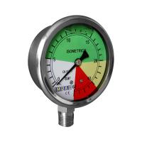 "Manómetro Isométrico 0-60 Bar 63mm Conex. 1/4"""
