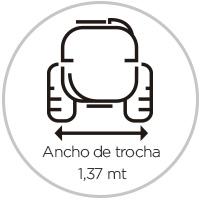 Ancho de trocha Nebulizadores 1500 litros