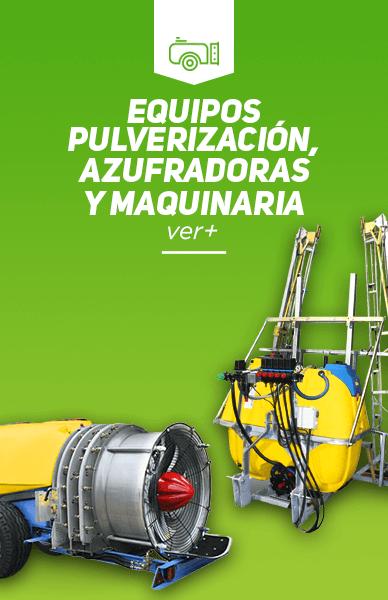 Equipos pulverizacion azufradoras y maquinaria