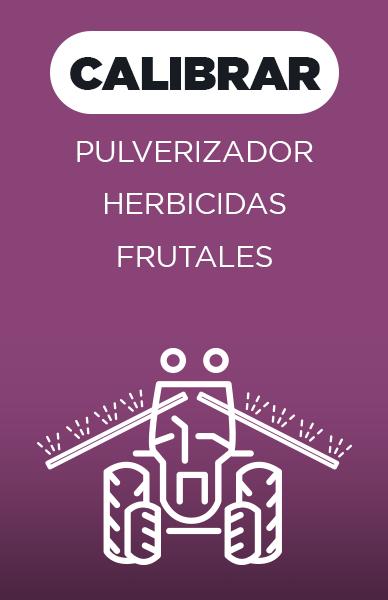 Calibrar pulverizador herbicidas frutales
