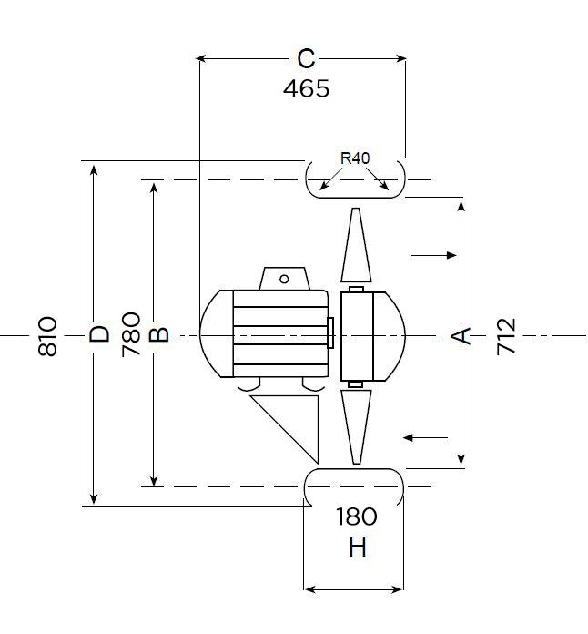 Dimensiones Electroventilador base circular ST71V 040000019
