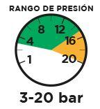 Rango de presión 3-20 bar